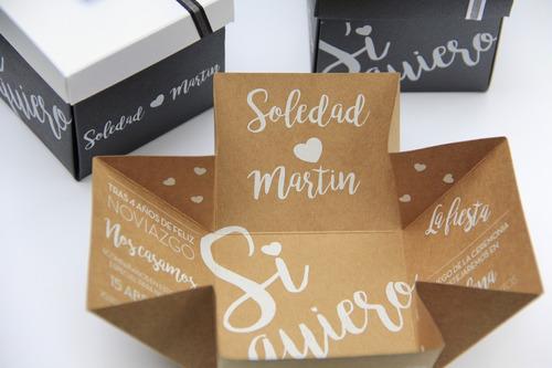 70 participaciones, invitacione tarjetas casamiento cajitas