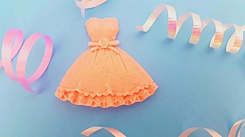 70 piezas jabón en forma de vestido xv años, bodas recuerdos