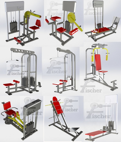 70 projetos completos maquinas de academia profissional
