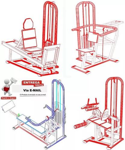 70 projetos equipamentos academia + projeto curvadora tubos