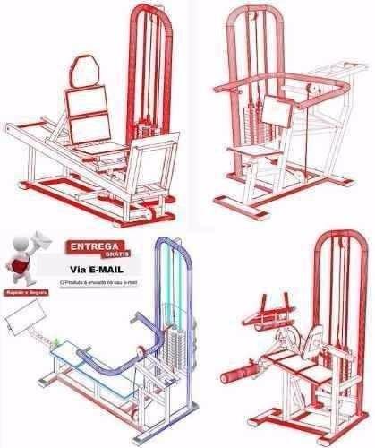 70 projetos equipamentos para academia + frete grátis