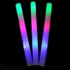 70 rompecocos led de gomaespuma.3 colores 3 secuencias!