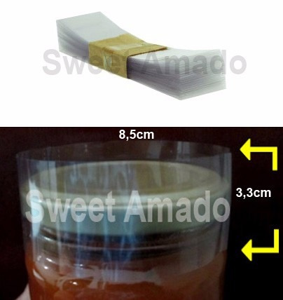 700 lacre tampa pote berlim termoencolhível 85mm incolor