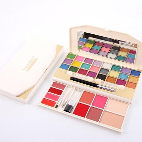 7002-008y caja de maquillaje sombra de ojos + rouge + kit co