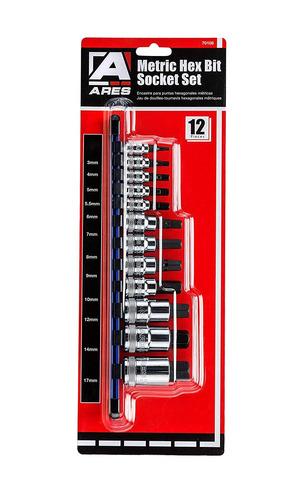 70108 | juego de zócalo de broca hexagonal métrica de 1...