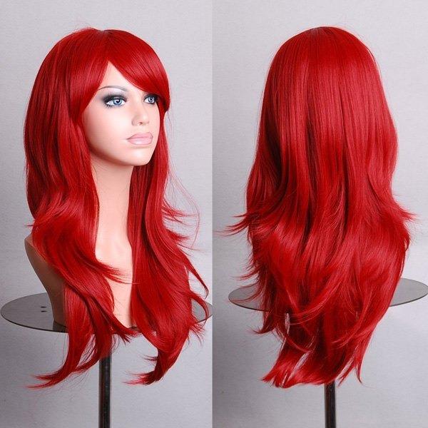Cabello rizado color rojo