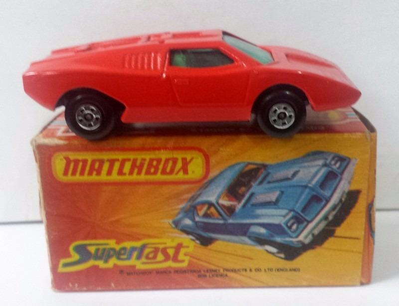 70 S Rare Matchbox Lamborghini Countach C Caixa Inbrima R 675