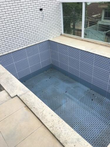 712 a - santos - embaré - triplex alta - nova - com piscina