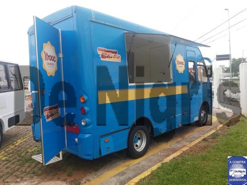 712e 31,5 furgão 6,30 metros - transformado food truck