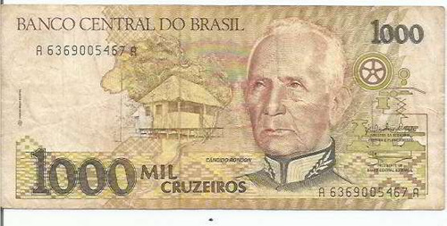713 - cédula brasil c217 - mil cruzeiros