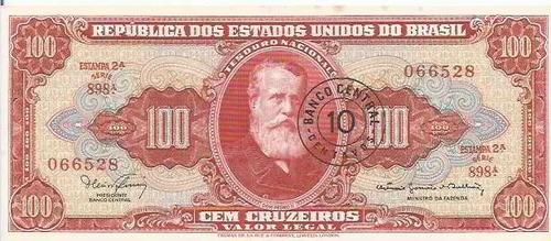 714 - cédula brasil c117 - cem cruzeiros