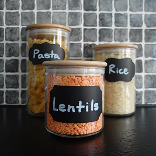72 etiquetas vinil adesivo lousa suqueira decoração potes