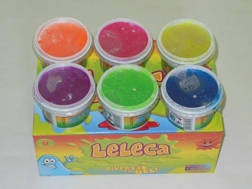 72 gelecas amoeba lelela caixa para personalizar massinha