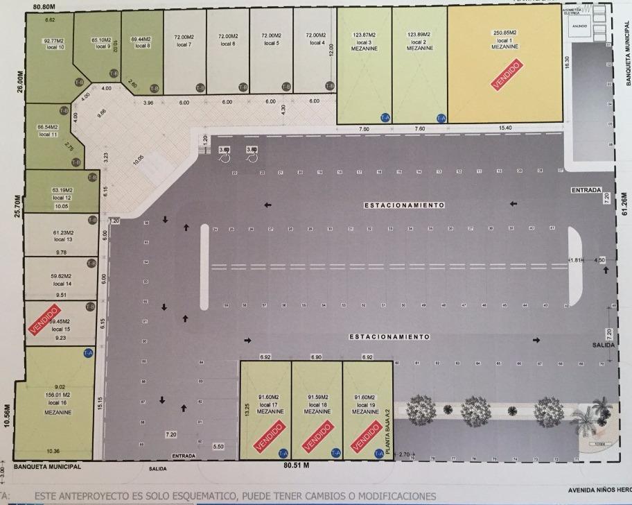 72 m2 plaza 305 local venta $2,160,000 crref 15 oh 040316