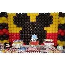 72 tela mágica + medidor balões bexigas painel