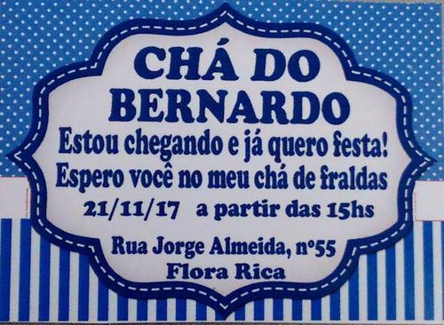 75 lembrancinhas carrinho de bebê chá fraldas + convite imã!