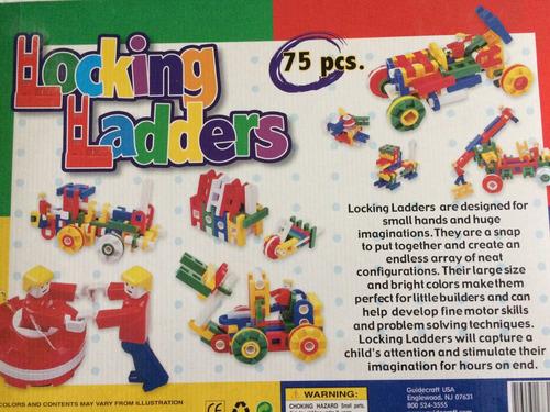 75 piezas para juntar y armar diferentes figuras