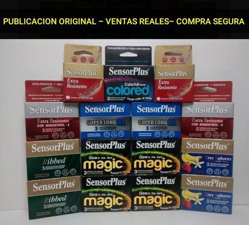 75 preservativos sensor plus [25 cajas] + envío 100% gratis
