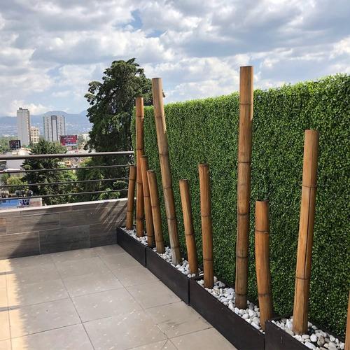 75pza muro verde follaje artificial sintetico jardin planta
