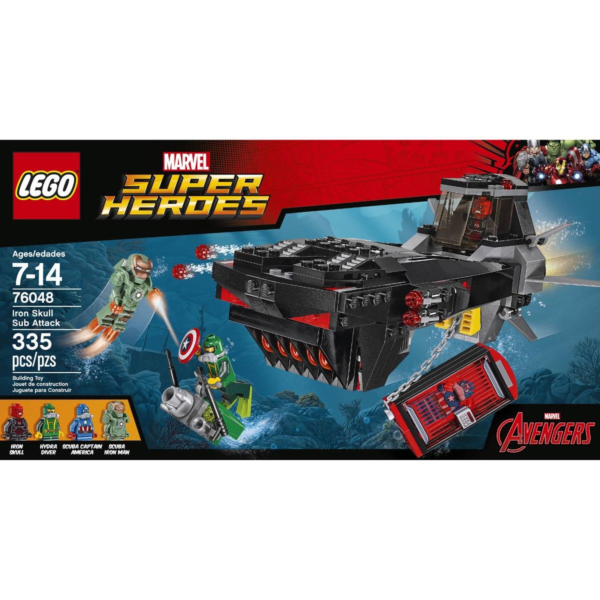 0f6e3a10fdfff 76048 Lego Marvel Submarino Caveira Ferro 7-14 Anos - R  201,90 em ...