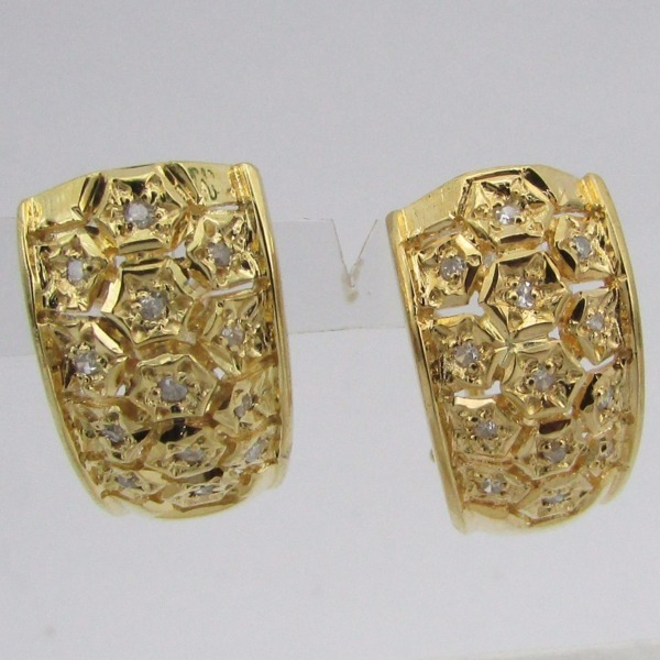 7674 Brinco Ouro 18k Diamantes 1 Pts Li Gold - R  1.717,20 em ... 8c335ef534