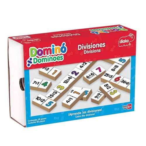 7717-h dominó de divisiones 100% madera 28 piezas de educar