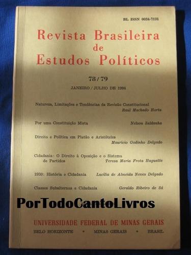 78 / 79 jan jul 1991 revista brasileira de estudos políticos