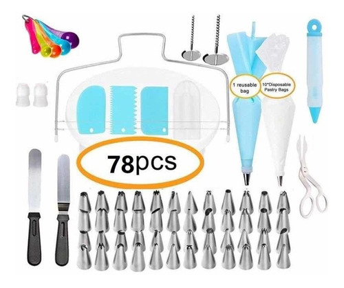78 pz ultracombo base giratoria duyas espatulas mangas y mas