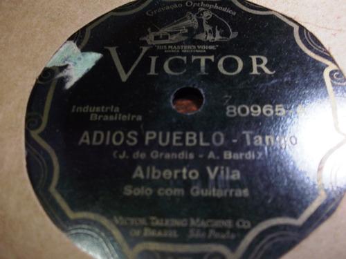 78 rpm alberto vila adios pueblo tango mama yo     9