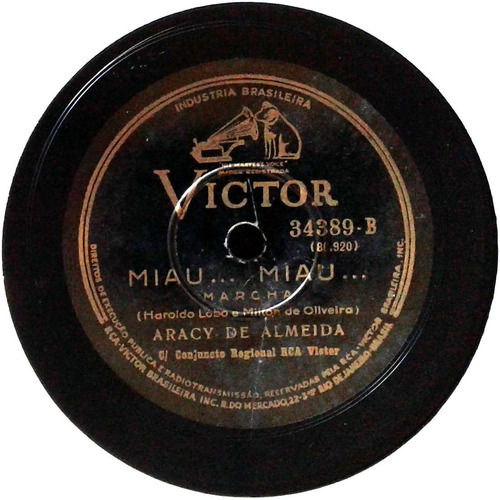 78 rpm aracy de almeida 1938 selo victor 34389