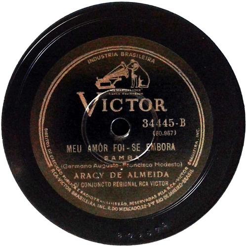 78 rpm aracy de almeida 1938 selo victor 34445