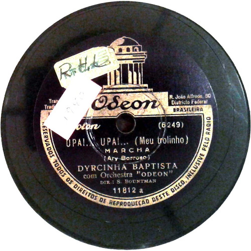 78 rpm dircinha batista 1939 selo odeon 11812