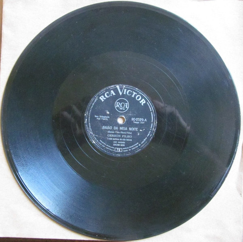 78 rpm - gerson filho (8 baixos) rca victor 80-2529 ¿ 1963