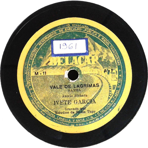 78 rpm ivete garcia 1961 selo belacap m11