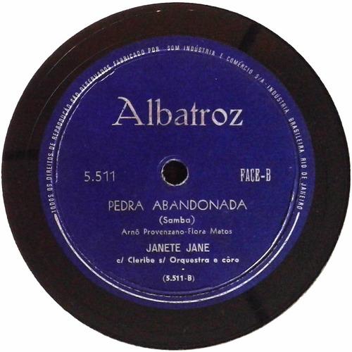 78 rpm janete jane 1960 selo albatroz 5511