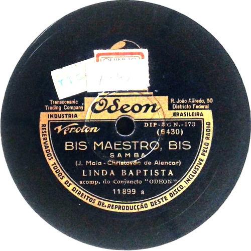 78 rpm linda batista 1940 selo odeon 11899