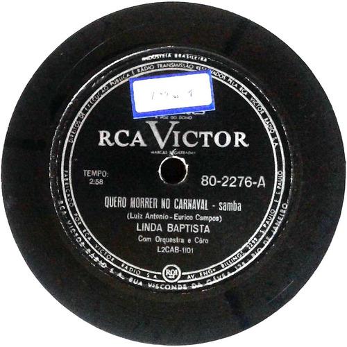 78 rpm linda batista 1960 selo rca victor 802276