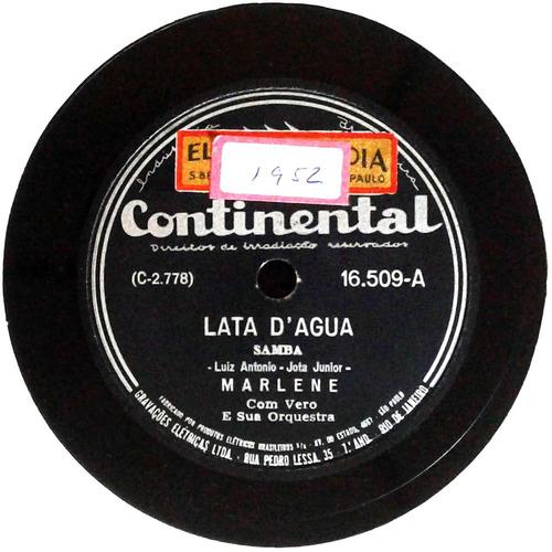 78 rpm marlene 1951 selo continental 16509