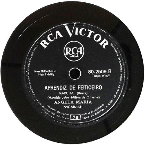 78 rpm ângela maria 1962 selo victor 802509