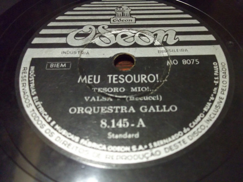 78 rpm orquestra gallo o beijo meu tesouro   9
