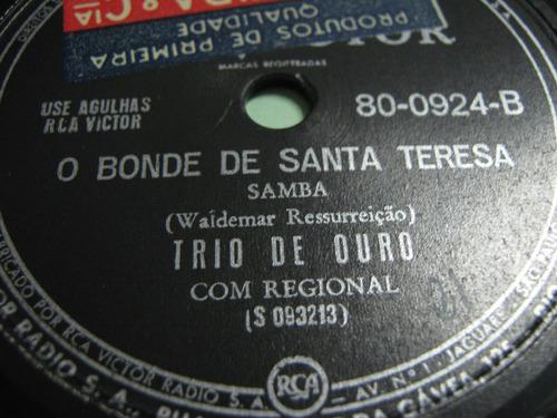 78 rpm trio de ouro bonde de santa teresa india caboclo a.