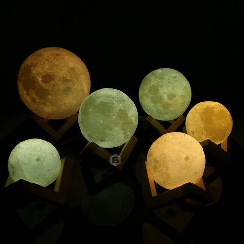 7.8cm  lightme lámpara de luna 3d impresión recargable