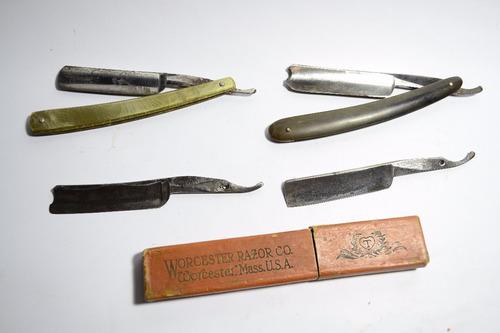 79 lote de navajas de barbero para restaurar.