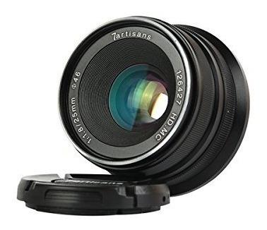 7artisans 25mm f18 lente de enfoque manual para camaras sony