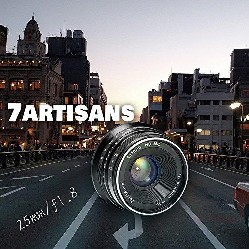 7artisans 25mm f1.8 objetivo manual primer objetivo fijo par