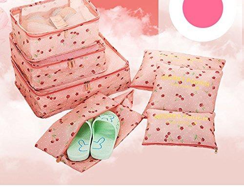 7pcs bolsas impermeables de almacenaje de viaje ropa cubeta