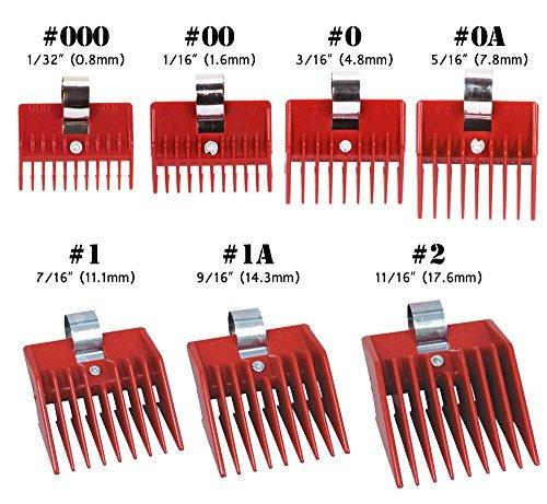 7pcs speed ¿¿o guide accesorio universal peine clipper 7 jue
