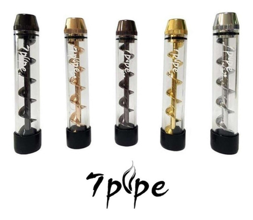 7pipe twisty glass blunt hitter espiral pipa herbal