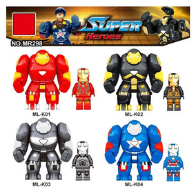 8 Avengers Hulkbuster Ironman Marvel Tipo Lego