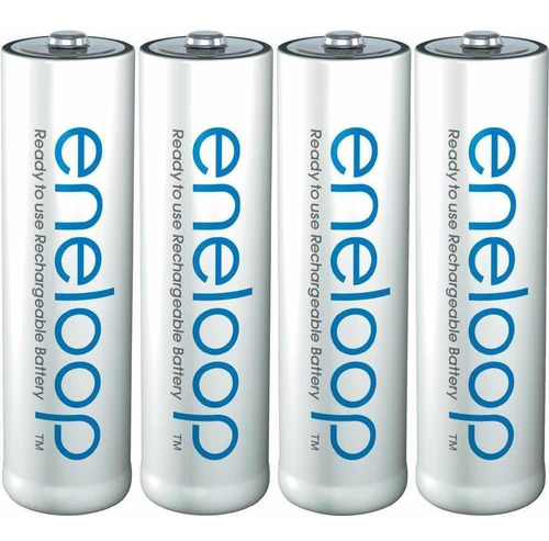 8 baterías recargables aa + cargador eneloop sanyo